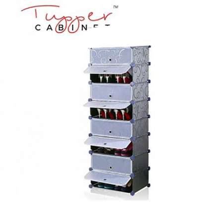 8 Tiers Non-woven Plastic Fabric Standing Shoe Rack DIY Shoes Storage Shelf Home Organizer image 1