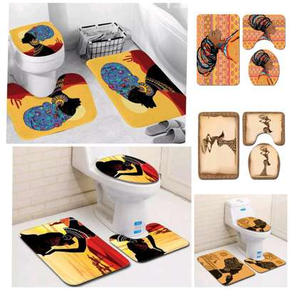 AFRICAN themed toilet mats image 1