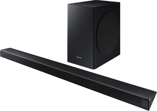"Samsung - 3.1-Channel 340W Soundbar System with 6-1/2"" Wireless Subwoofer - Charcoal Black Model:HW-R650 image 1"