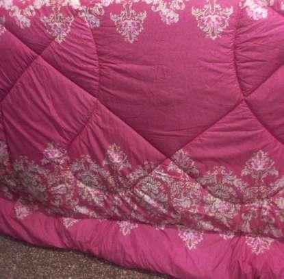 4 piece 6*6 pink cotton duvet set image 1