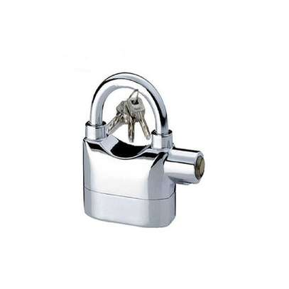 Kin Bar Alarm Security Padlock - Silver