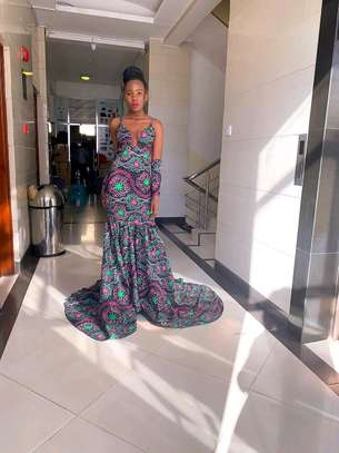 Evening dress /Ankara Gown