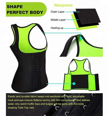 Women Slim Lift Body Shaper Tank Top Vest Weight Loss Jogger Back Pain Corset Sweat Waist Belt image 2
