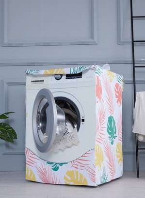 Front Load Washing Machine Cover with Flowers