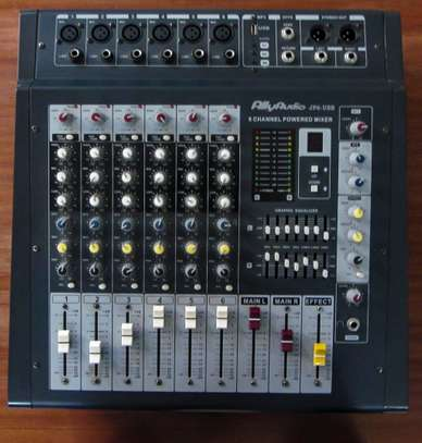 6 Channel Powered Mixer 800 watts image 1