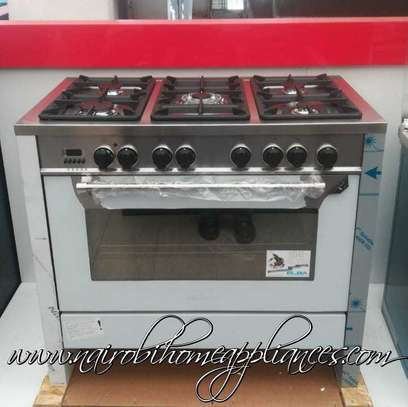 Elba 5 Gas Burners, Electric Oven Professional S/Steel Cooker image 1