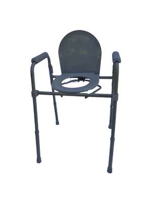 A pair of bedside commode chairs