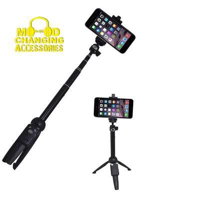 Yunteng YT-9928 Handheld Tripod Monopod Selfie Stick w/ Bluetooth Remote Shutter image 3