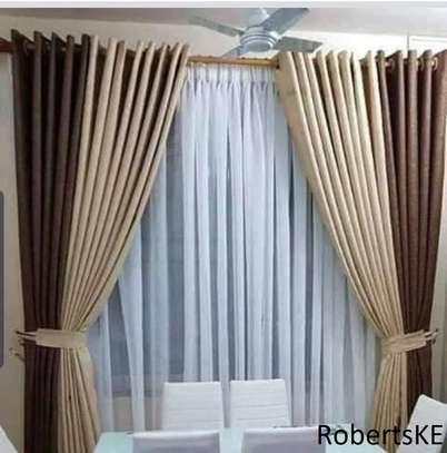 dark brown and cream curtain image 1