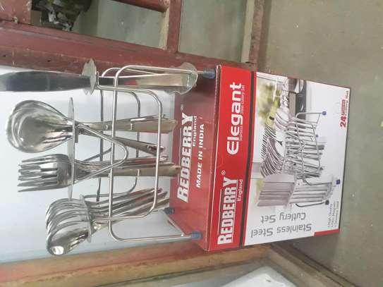 24pc Elegant Cutlery Set/ Cutlery Set/Redberry Cutlery Set image 2