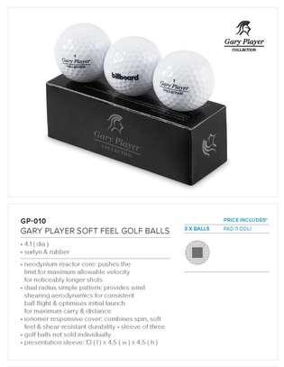 Golf Balls Branded Gary Player