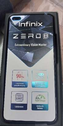 "Infinix Zero 8 6.8"" inches of display, 8GB RAM/128GB ROM, 64MP CAMERA, Dual 4G, - Black Diamond image 1"
