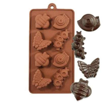 Snail, Caterpillar, Bee and Butterfly Silicone Chocolate Mold image 1