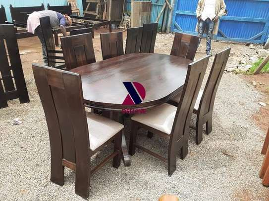 Oval 6 Seater Dining Table Set (401) image 3