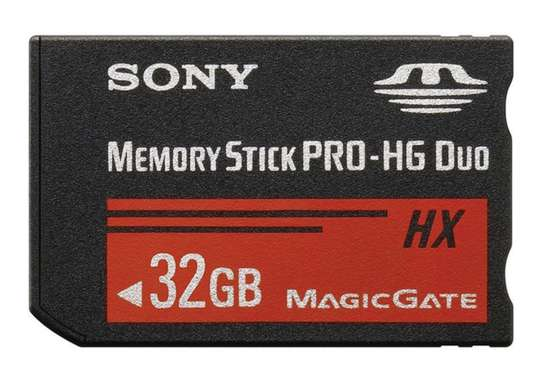 32GB SONY MEMORY STICK PRO-HG DUO HX HIGH-SPEED MEMORY CARD FOR SONY DEVICES image 1