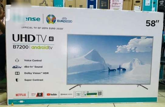 Hisense 58 Inch 4K Android Smart Tv 58B7200UW 7 Series image 1