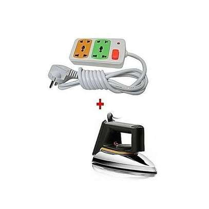 Philips 1172 - Iron box Dry + a FREE 2-way Socket Extension Cable - Silver