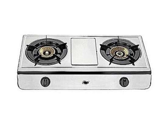 2 burner stainless steel. image 1