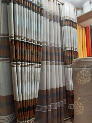 Brown Strips Curtains