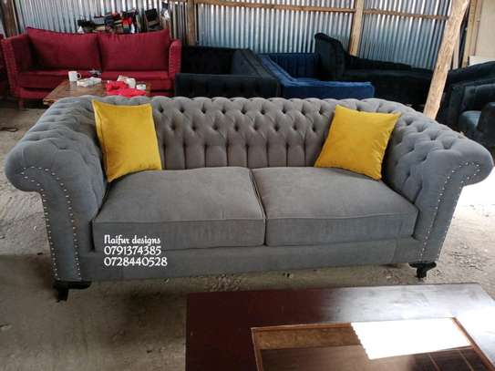 Three seater sofa/sofas for sale/chesterfield sofas/grey sofas for sale in Nairobi image 1