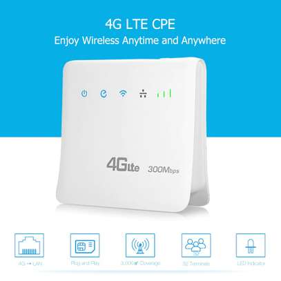 Unlocked 300mbps Wifi Router 4g Wifi Mobile LTE CPE Routers With LAN image 1
