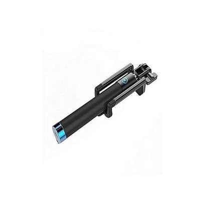 Sensitive Latest Selfie Stick - Black And Blue image 4