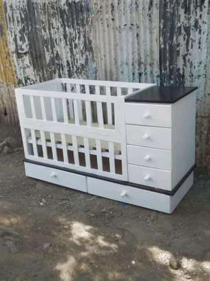 Simple Modern Quality Baby Cot together with it's Chest Drawer image 1