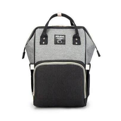 Diaper Bag - Grey & Black