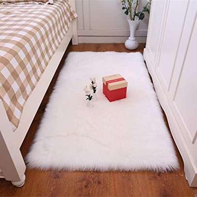 BED SIDE FLUFFY CARPET image 2