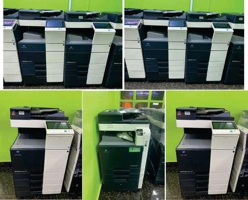 fully featured konica minolta bizhub c360 colored photocopier image 1