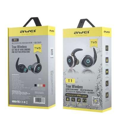 AWEI T1 TWS 4.2 True Wireless Bluetooth Earbuds Sport Headphones image 5
