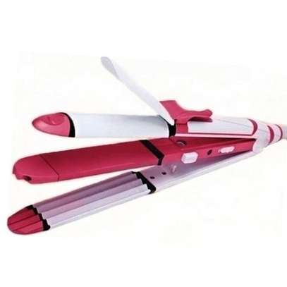 3 In 1 Professional Hair Flattener And Straightener - Pink