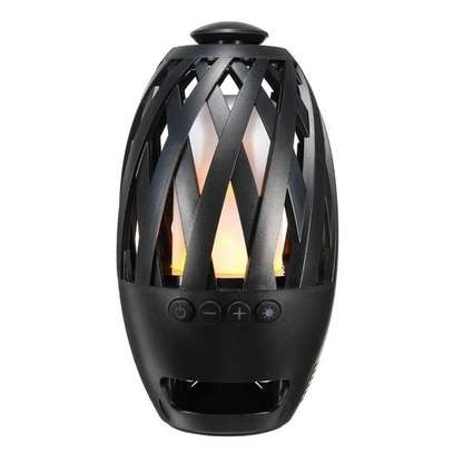 96 LED Flame Atmosphere Bluetooth Speaker Burning Fire Light Music Audio Player.