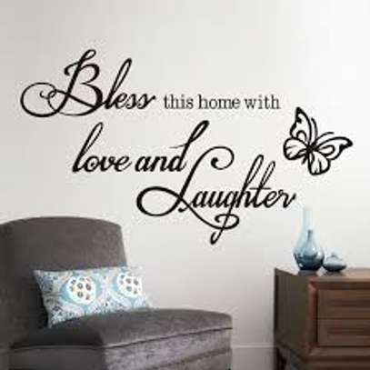 Bless This Home with love and laughter wall Sticker