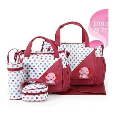 Cute new design 5in1 Diaper Bag Nappy Changing Pad waterproof Travel Bag- RED