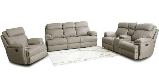 Alma plus Microfiber Recliner sofa - Latte Color image 1
