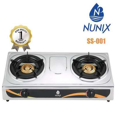 Nunix Gas Cooker Stainless Steel image 1