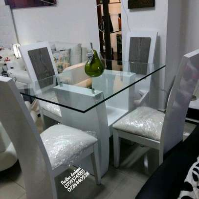 Four seater glass dining table set for sale in Nairobi Kenya/glass dining table for sale in Nairobi Kenya image 1
