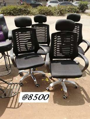 Executive adjustable mesh office chairs image 3