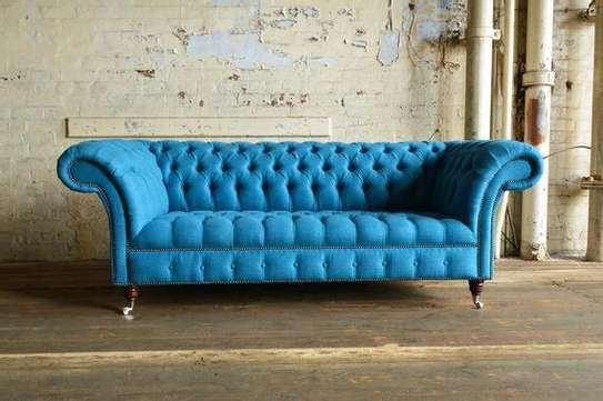 Blue chesterfield sofas/three seater sofa/trendy sofas/Furniture kenya image 1