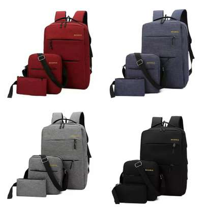 3 IN 1 LAPTOP BAG WITH USB CHARGING CABLE image 1