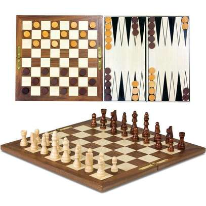 3 in 1 chess checkers image 1