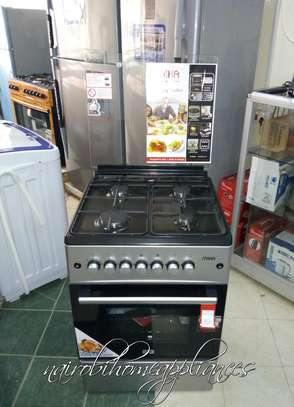 Mika Standing Cooker, 60cm X 60cm, All Gas, Gas Oven, Silver image 1