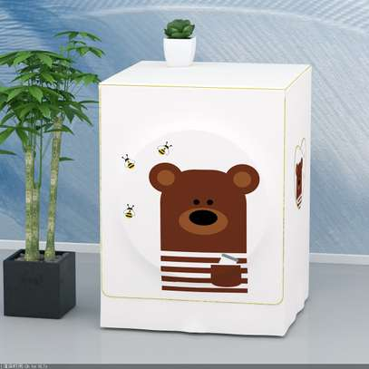 Front Load washing machine cover Bear face image 3