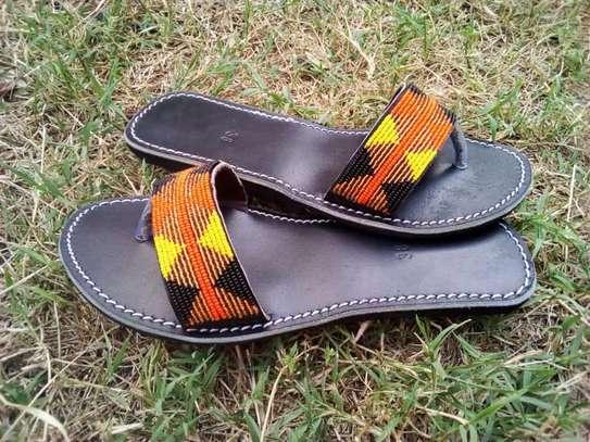 Fashion stylish beaded ladies sandals image 4
