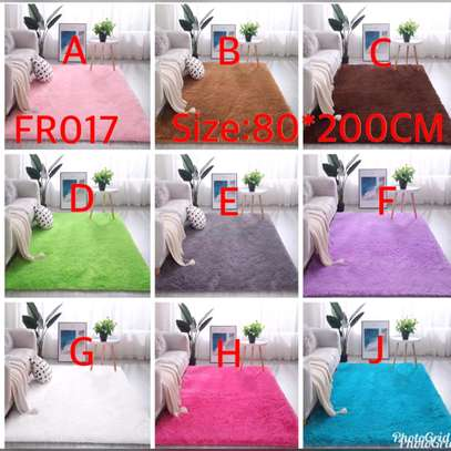 Colourful fluffy Bedside mats image 1