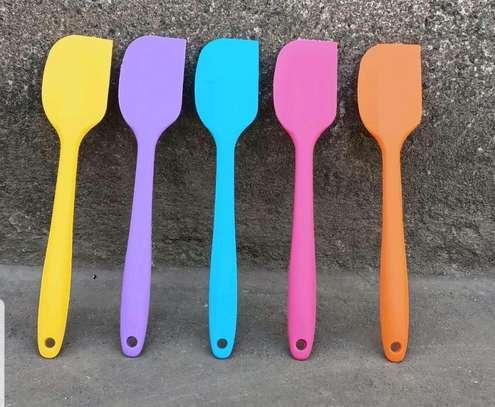 Silcon spatula/Slicon oil brush image 1