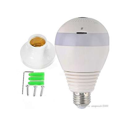 Wireless Bulb Camera IP 360 Degrees White Nanny Camera V380