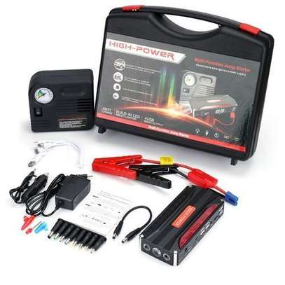 Emergency car jumpstarter,powerful power bank with three light