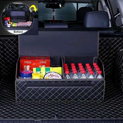 PU LEATHER CARBOOT ORGANIZER image 2